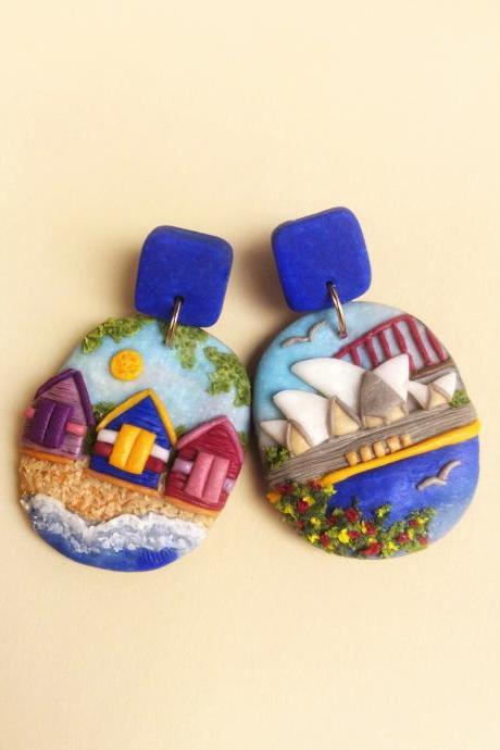 Australia Polymer Clay Earrings