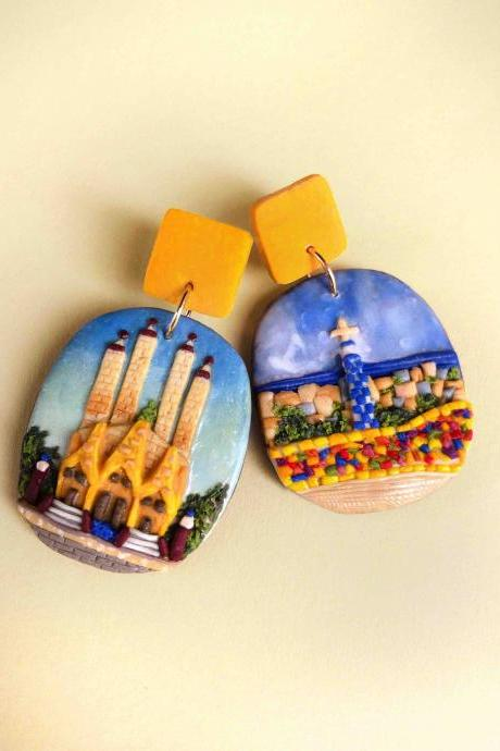 Barcelona Polymer Clay Earrings