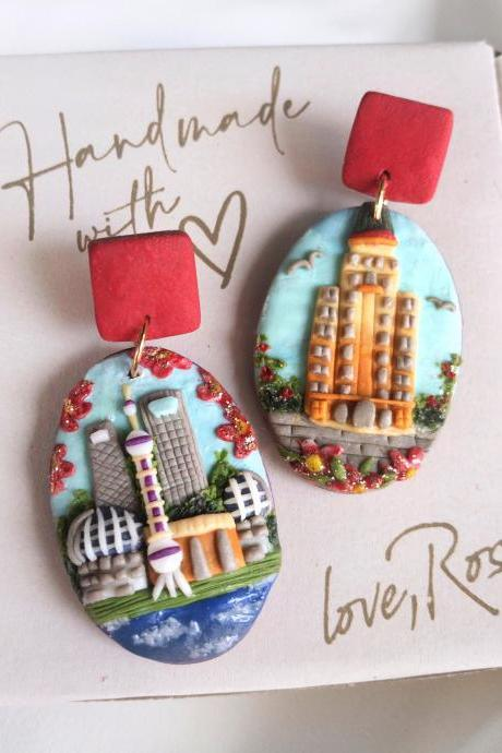 Beijing Polymer Clay Earrings