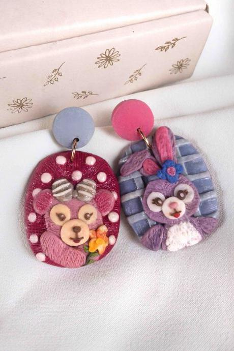 Duffy and Friends Polymer Clay Earrings