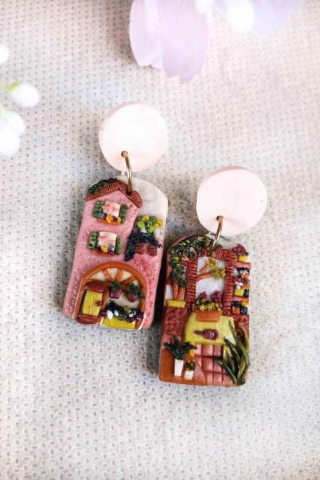 Florist Polymer Clay Earrings