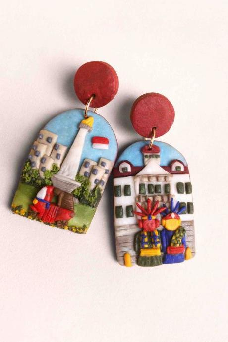 Jakarta Indonesia Polymer Clay Earrings