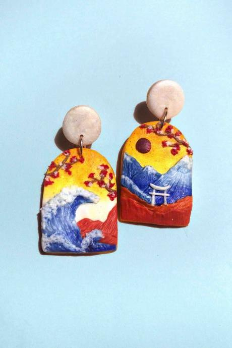 Japan Polymer Clay Earrings