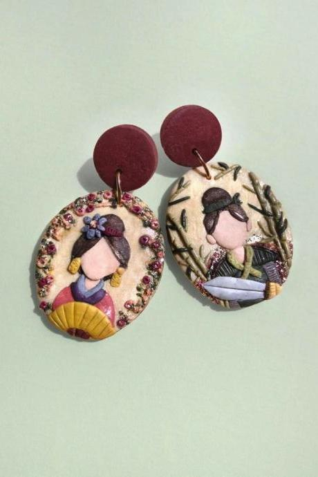 Mulan Polymer Clay Earrings