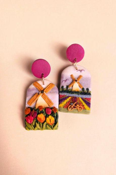 Netherlands Polymer Clay Earrings