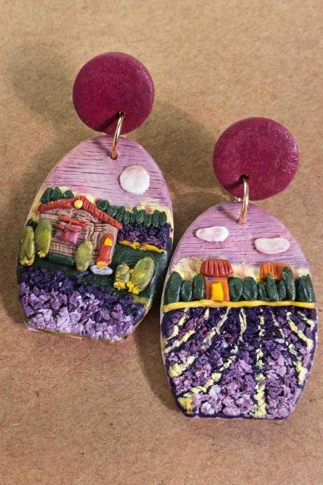 Provence France Polymer Clay Earrings