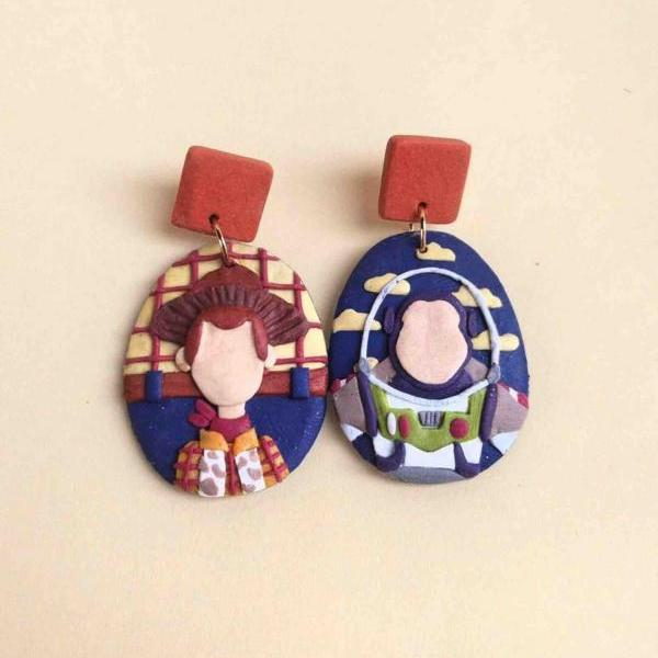 Toy Story Polymer Clay Earrings